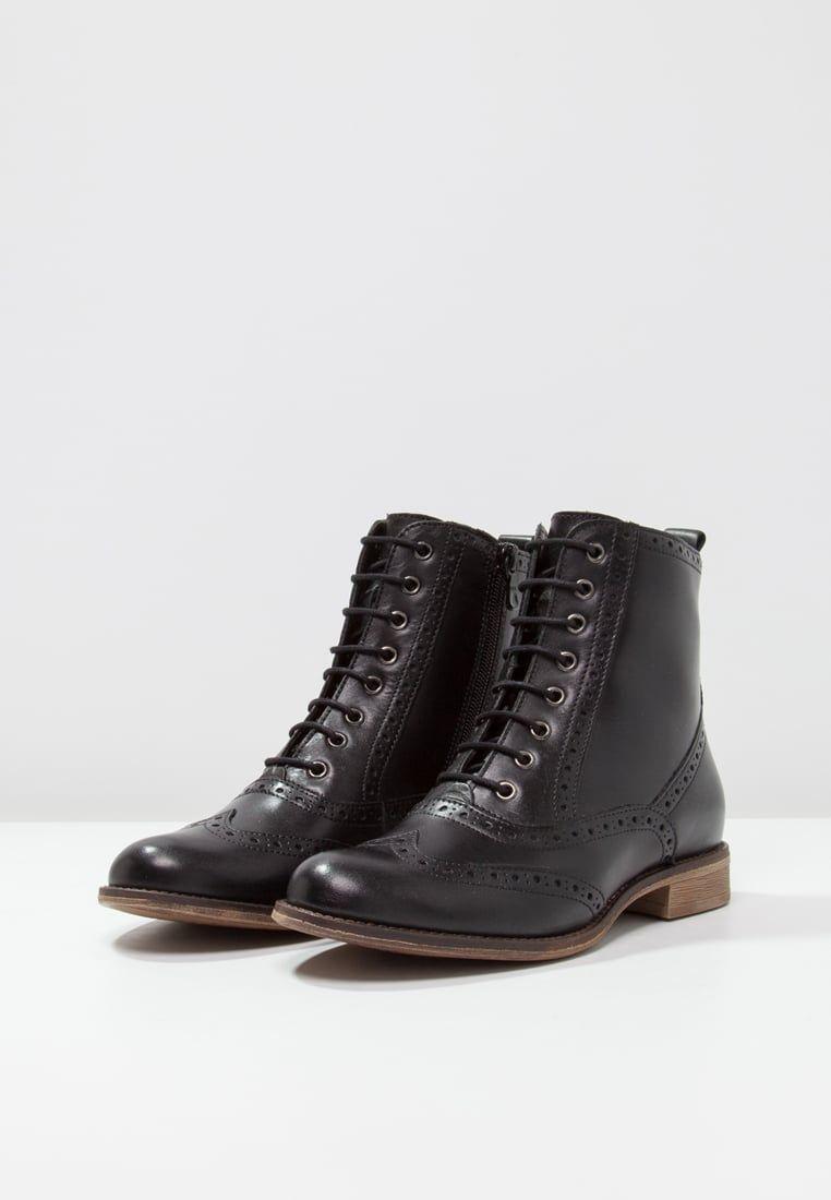 bottines à lacets - black | black noir, bottines et lacet