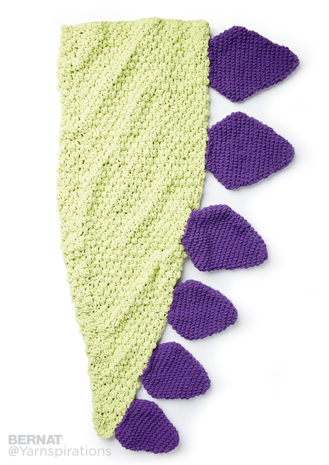 Dino Tail Crochet Snuggle Sack - Patterns | Yarnspirations ...