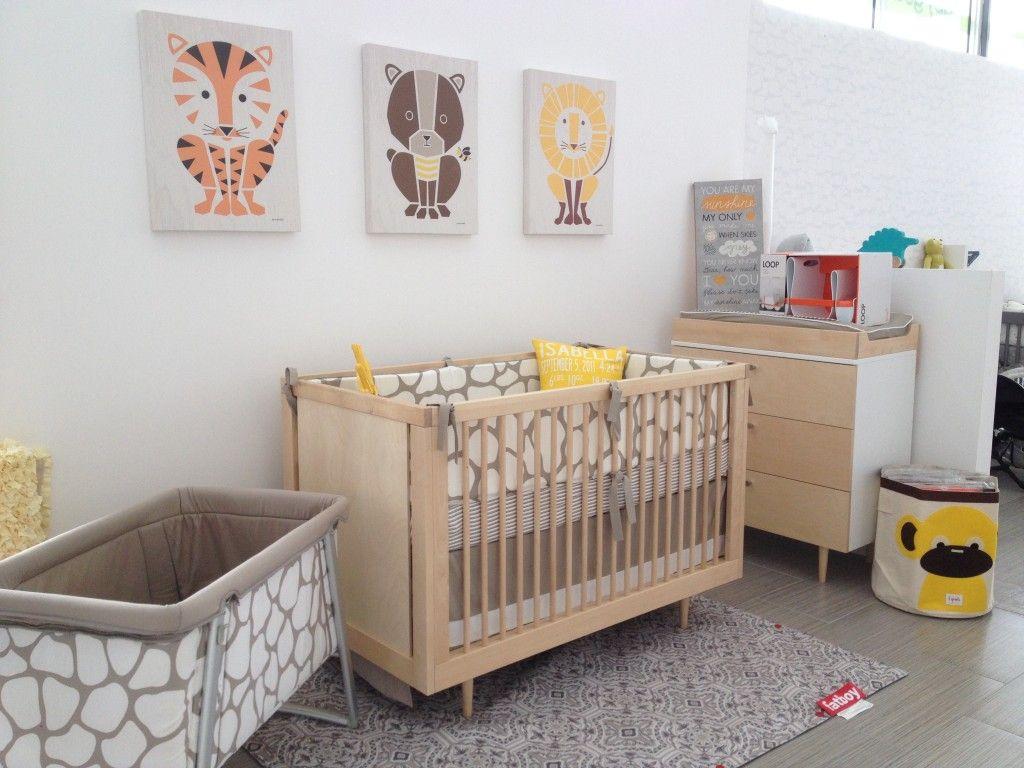 We love this modern take on a safari-themed nursery from @GiveWink! #nursery #modern