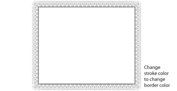 Certificate Border Design  Border Design And Certificate