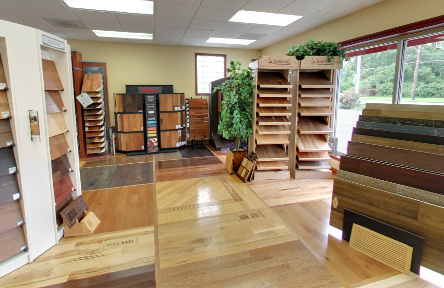 Panel Town & Floors hardwood floors showroom in Columbus Ohio.