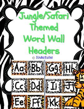 Jungle / Safari Theme Word Wall Headers |