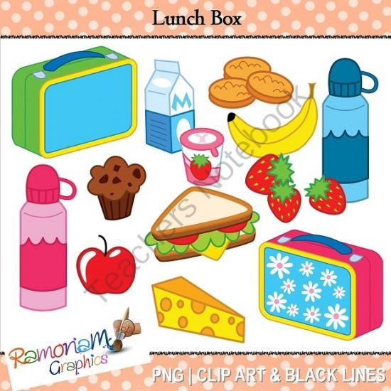 Lunch Box Clipart from RamonaM Graphics on ...