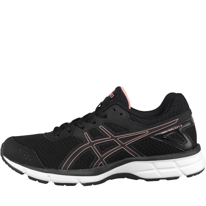 Asics Womens Gel Galaxy 9 Neutral Running Shoes Black Peach Melba Black 592187cdba77