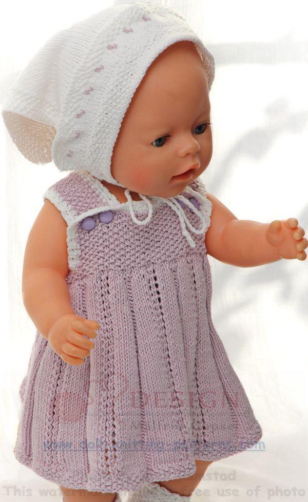 Puppenkleidung Stricken Sommerlich Und Süß In Flieder Und Weiß