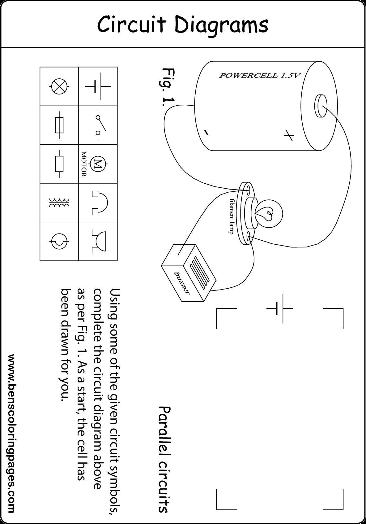 PeriodicInspirational Circuits and Symbols Worksheet