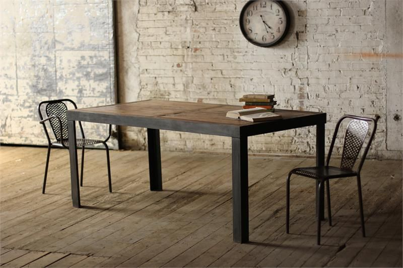 American Country To Do The Old Retro Style Loft Industrial Wood Table Desk  Iron Wood Dining Table Bench