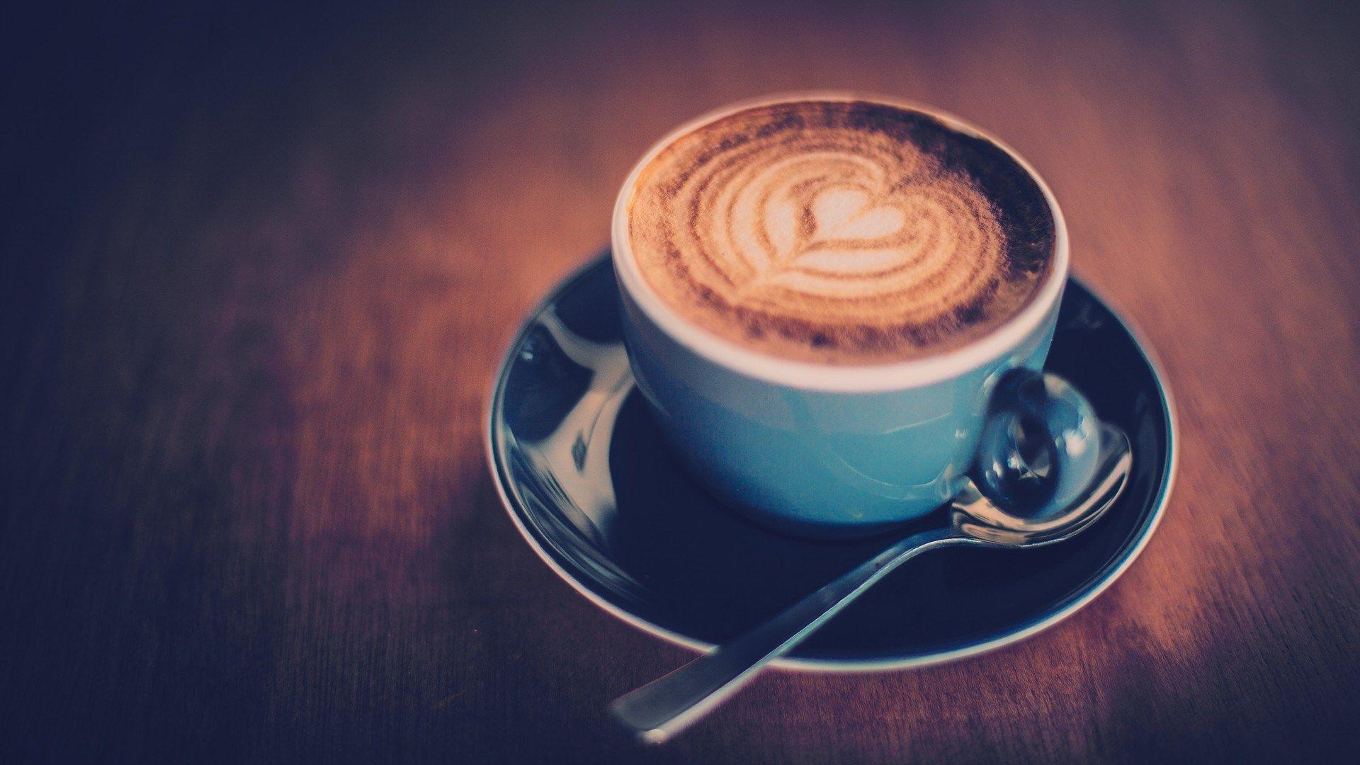 Coffee Heart Shape Foam Close Up HD Wallpaper ZoomWalls