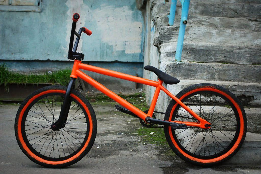 Black And Orange Paint Designs Bmx Bikes