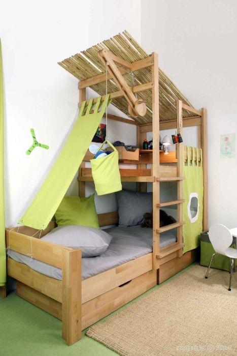 lit cabane enfant en h tre massif mod le bruno chambres enfants lit enfant cabane lit. Black Bedroom Furniture Sets. Home Design Ideas