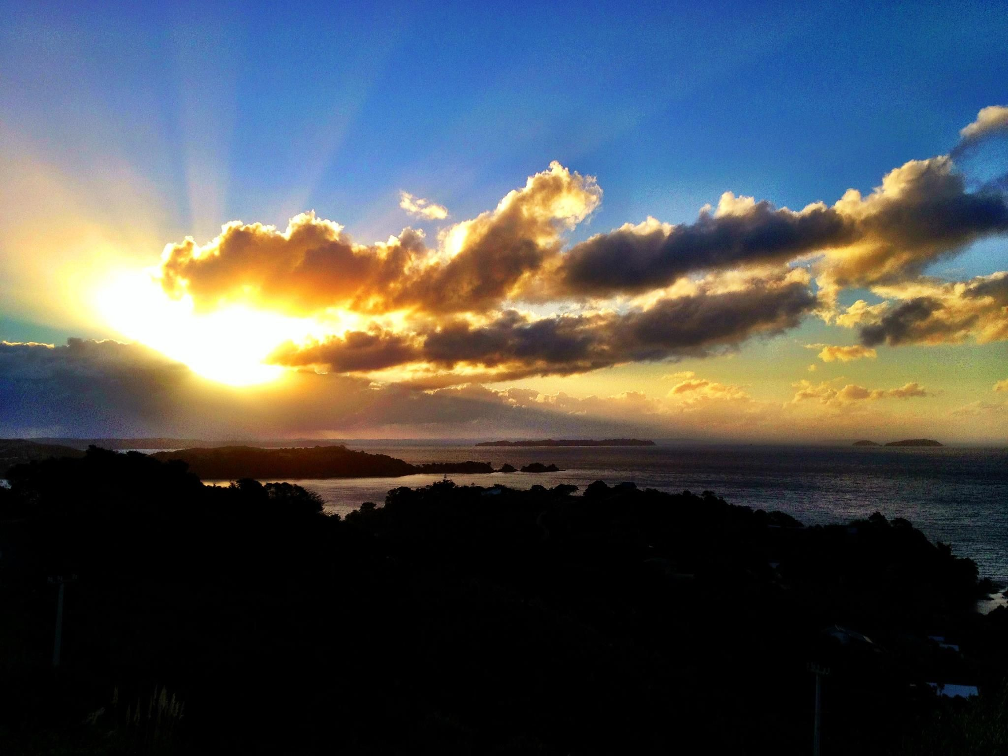 Sunset over Waiheke
