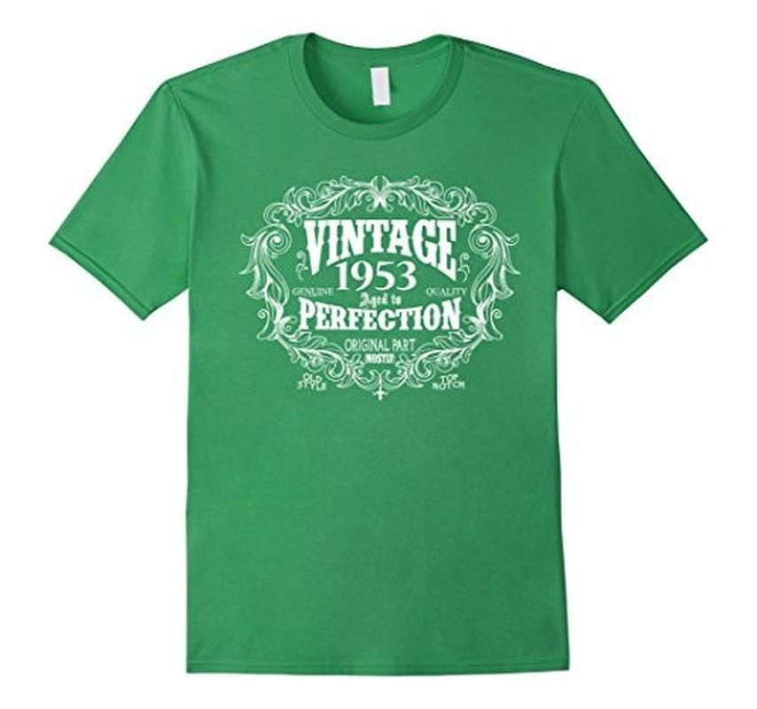 Women's Men's Vintage Born in 1953 Aged to perfection 64 yrs years old Birthday Gift T-Shirt