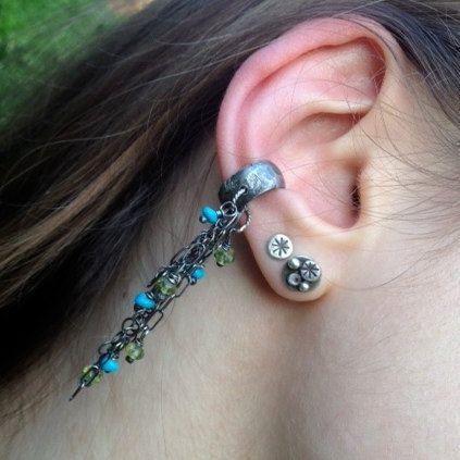 Silver Ear Cuff Single Earring ear cuff sterling silver от artdi