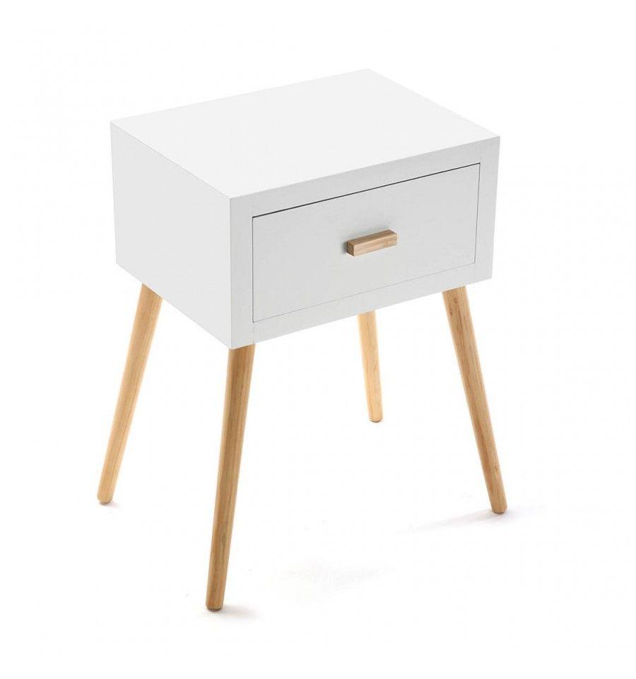 Mesa de noche 1 cajón Einar blanca | Muebles | Pinterest | Mesita de ...
