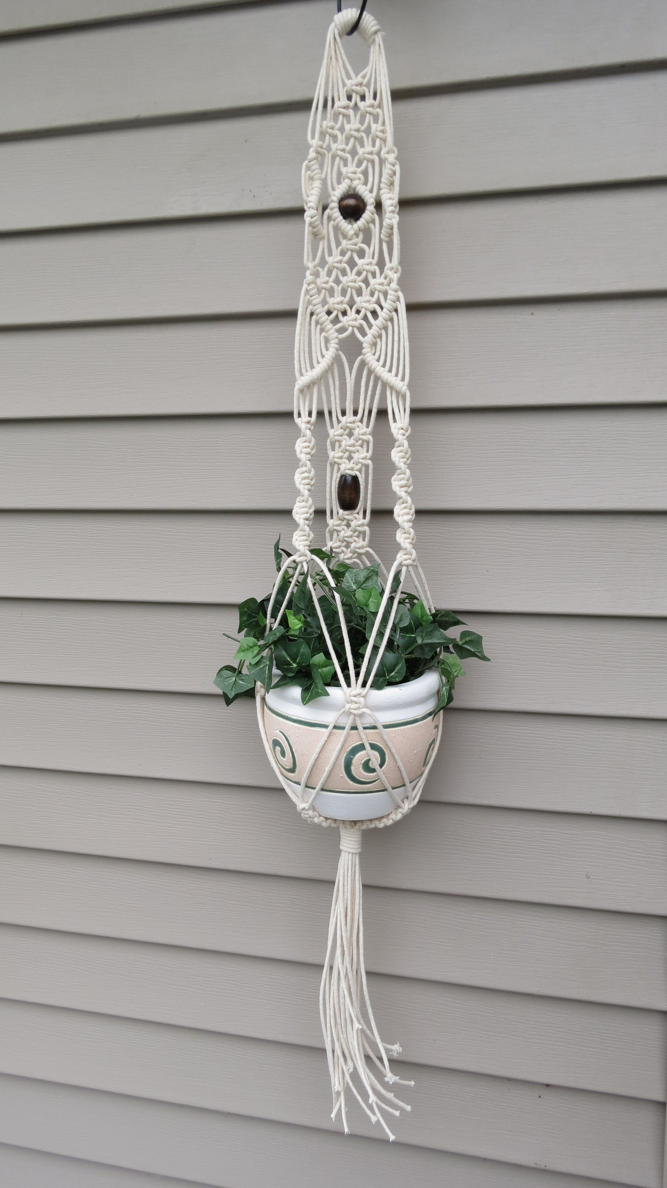 how to macrame a plant hanger macram 233 plant hanger 3mm cotton rope wedding decor 5864