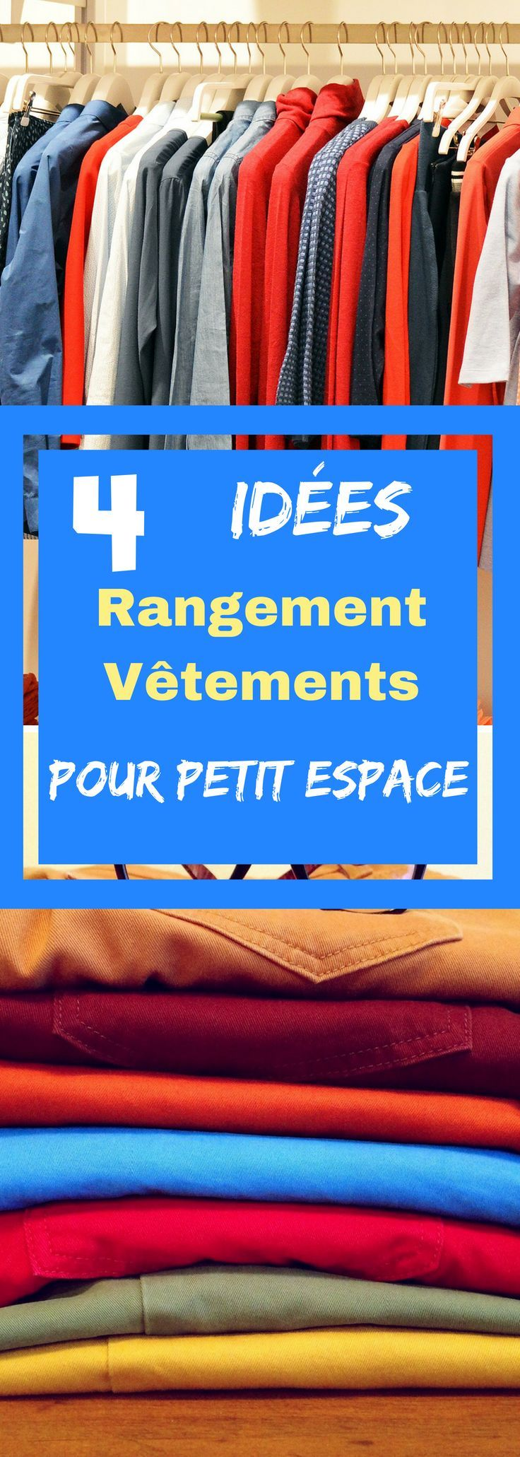 4 id es de rangement v tements pour petit espace. Black Bedroom Furniture Sets. Home Design Ideas