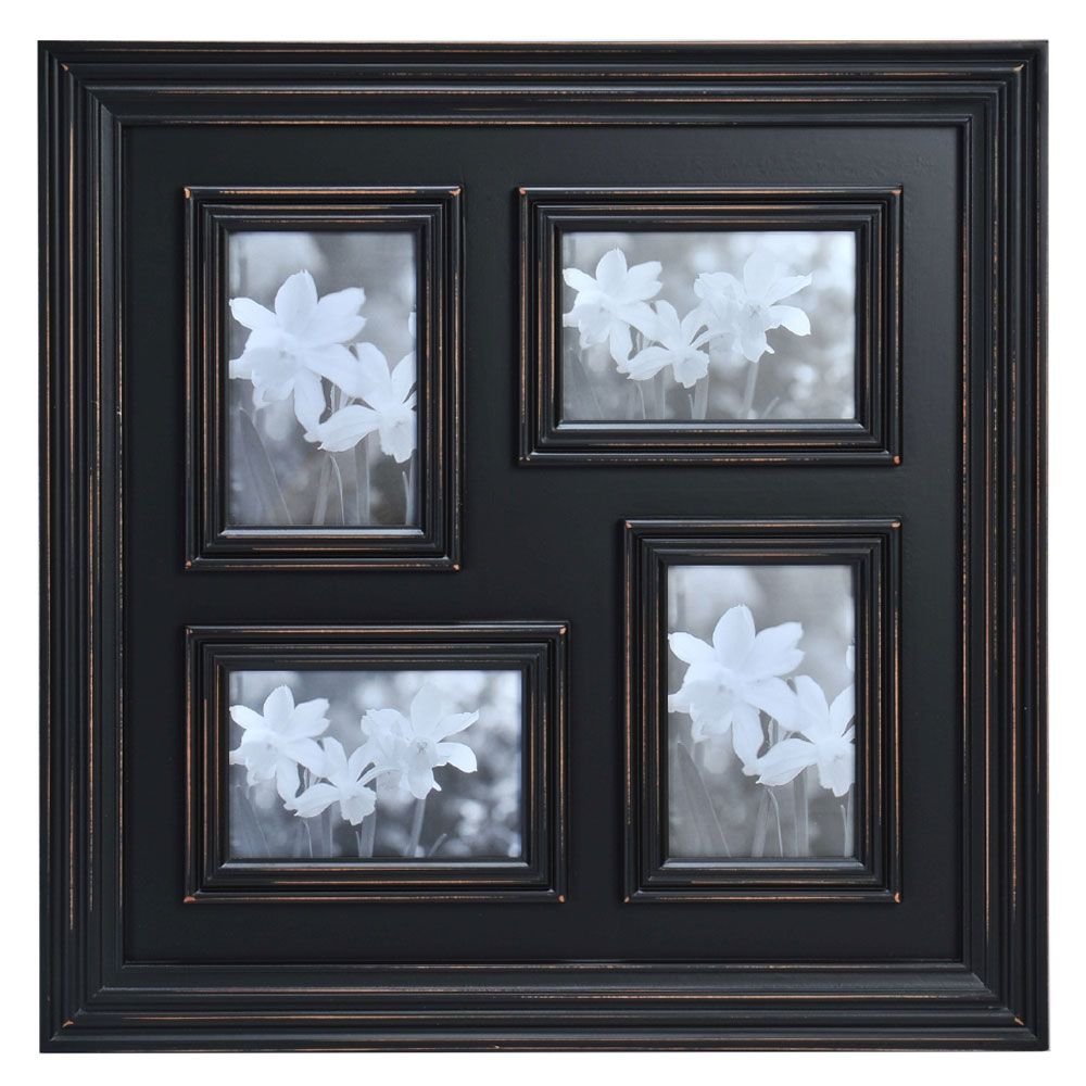 4 Opening Distressed Black Collage Frame | Products | Pinterest