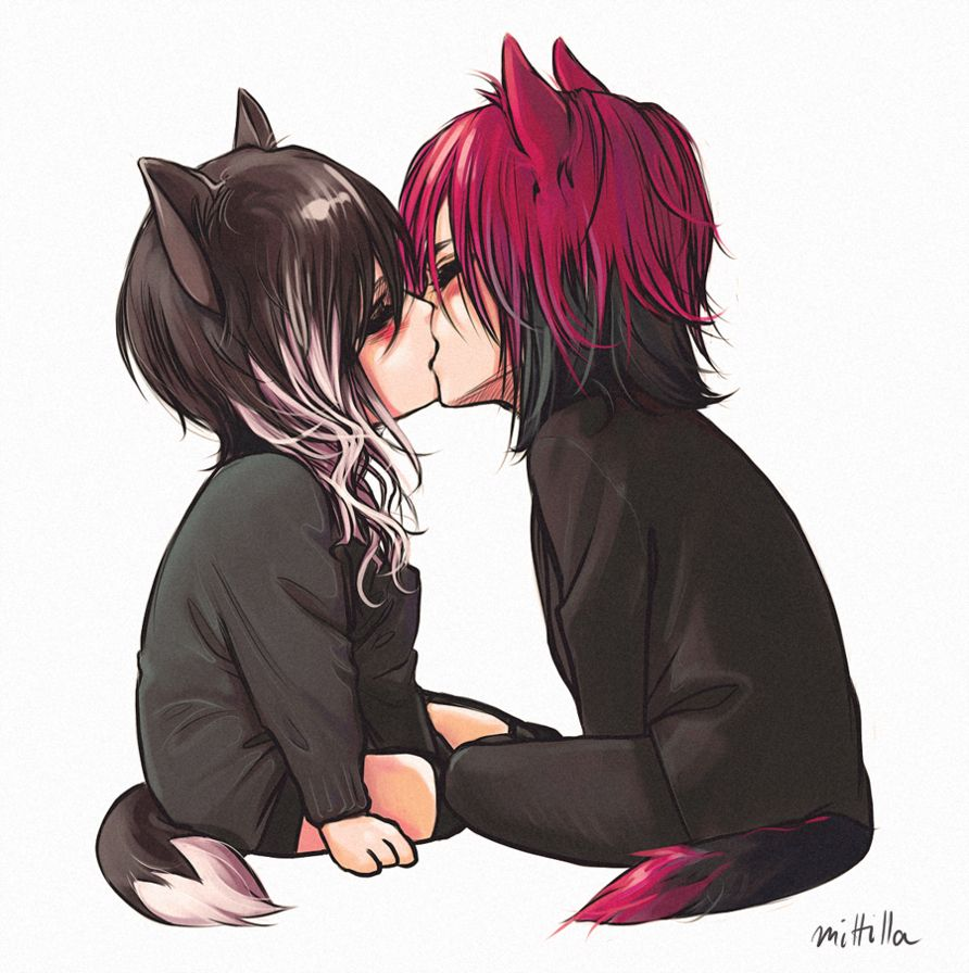 Wolf lovers  Anime neko, Cute anime chibi, Anime chibi