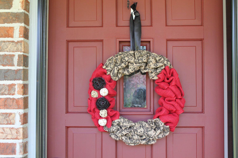 Beautiful simple burlap wreath by CelebrationWreath on Etsy, $45.00