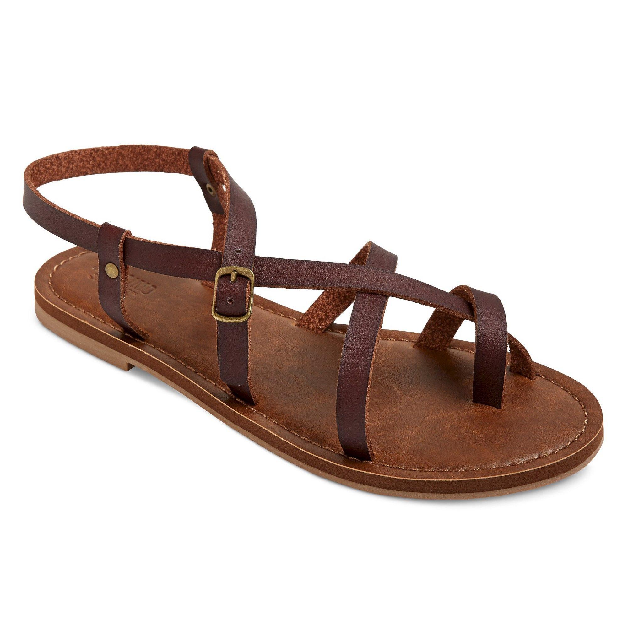 d2da81b5048f Women s Wide Width Lavinia Thong Sandals - Mossimo Supply Co. Brown 7.5W
