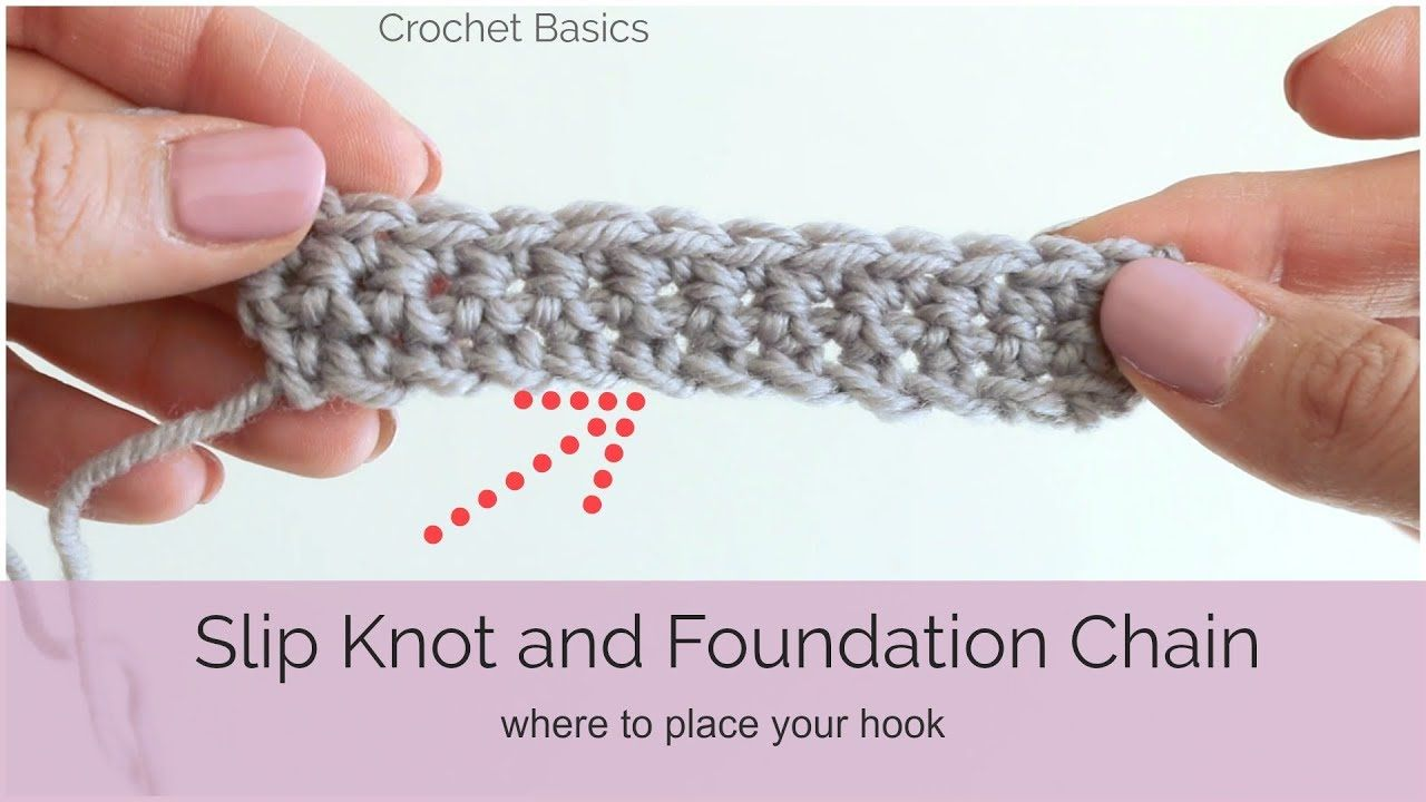 Crochet Basics Slip Knot and Foundation Chain YouTube