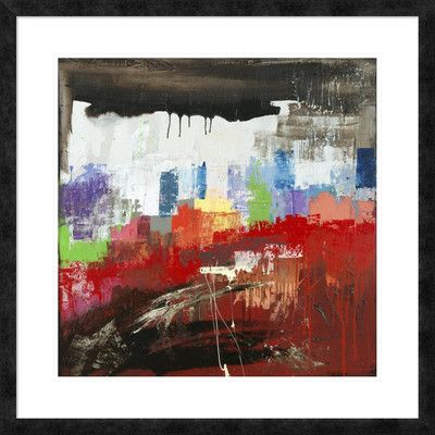 """Global Gallery 'Happy Town' by Italo Corrado Framed Painting Print Size: 32"""" H x 32"""" W x 1.5"""" D"""