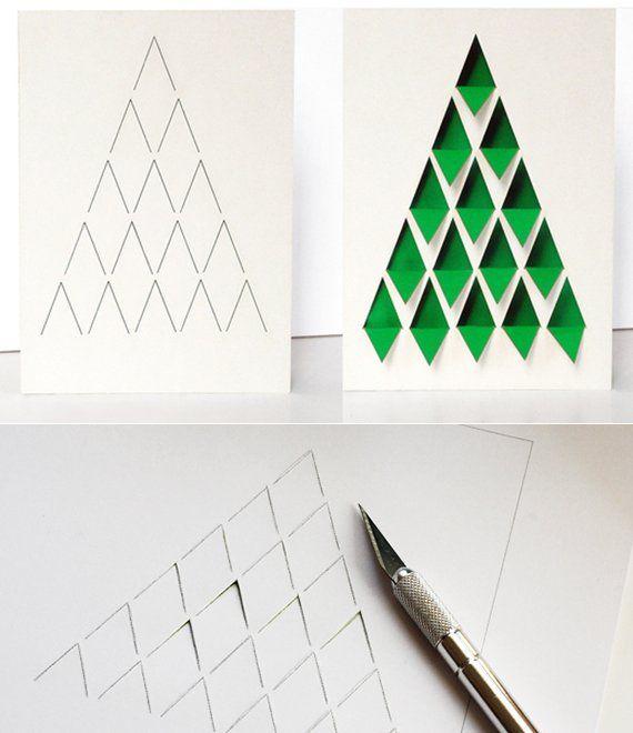 tannenbaum falten aus verschiedenen materialien. Black Bedroom Furniture Sets. Home Design Ideas