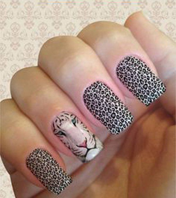 Cheetah Nail art - 50 Cheetah Nail Designs ... - 50 Cheetah Nail Designs Cheetah Nail Designs, Cheetah Nails And