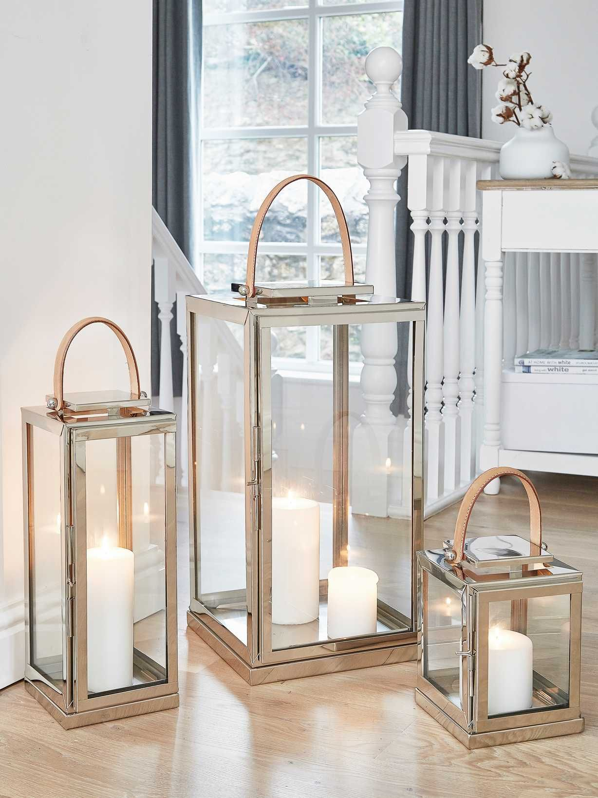 Stainless and Leather Lanterns images