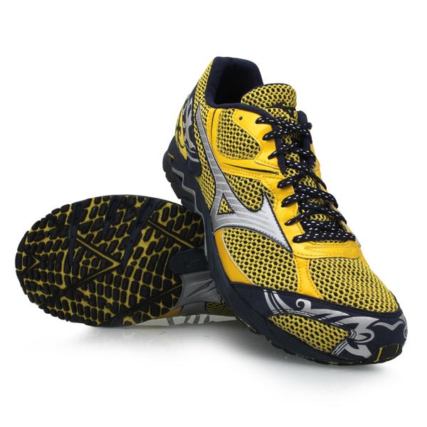 Mens Running Shoes - Yellow/Navy
