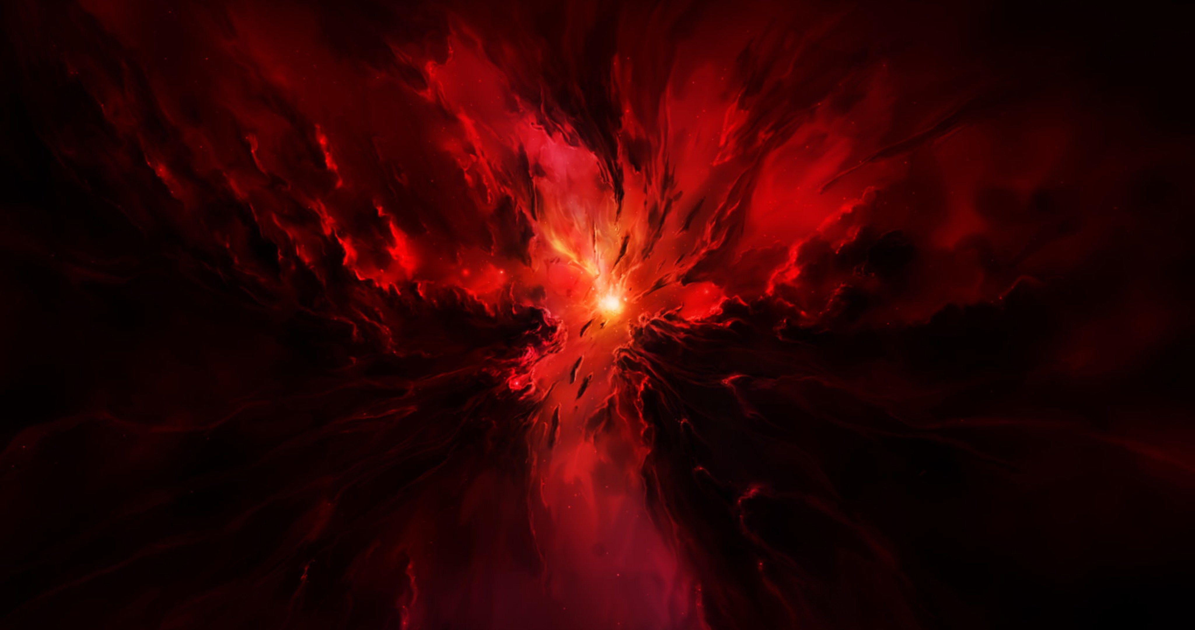 Star Nova Nebula 4k Ultra Hd Wallpaper Red Abstract Painting Space Artwork Nebula Wallpaper
