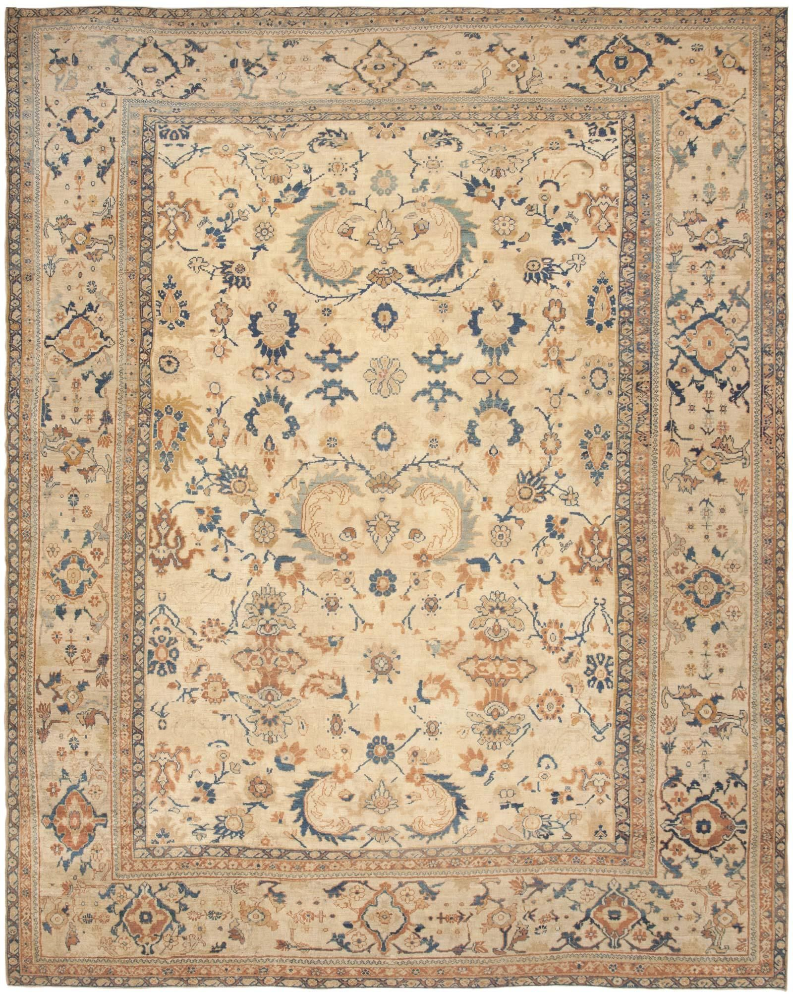 Antique Sultanabad Persian Rug 44726 Detail