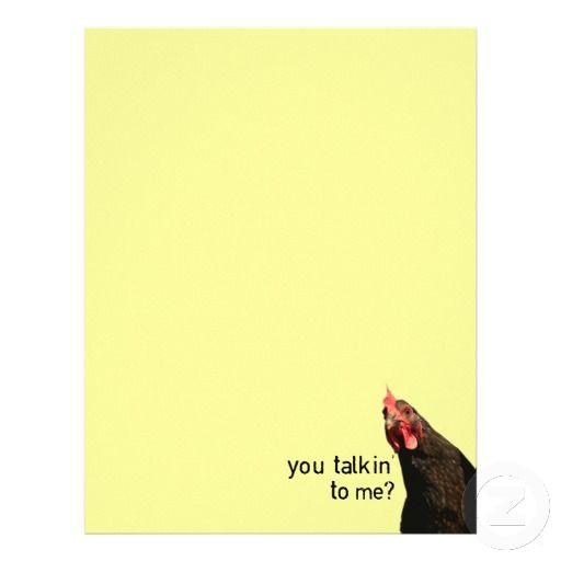 Funny Attitude Chicken - you talkin to me? Pinterest Attitude