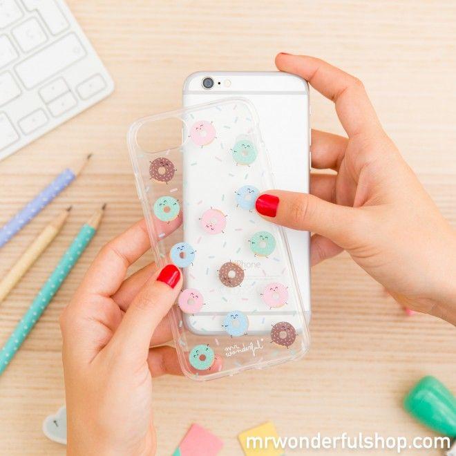 79eac291ebb Carcasa para iPhone 7 - Mini Rosquillas - Mr. Wonderful | Carcasas ...