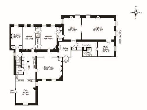 A Funky Whimsical Four Bedroom In The Dakota Seeks 17 5m Apartment Floor Plans New York Apartments Dakota