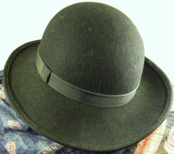 Vintage 80s Stylish French Bowler Hat 89 00 Via Etsy Bowler Hat Hats Stylish