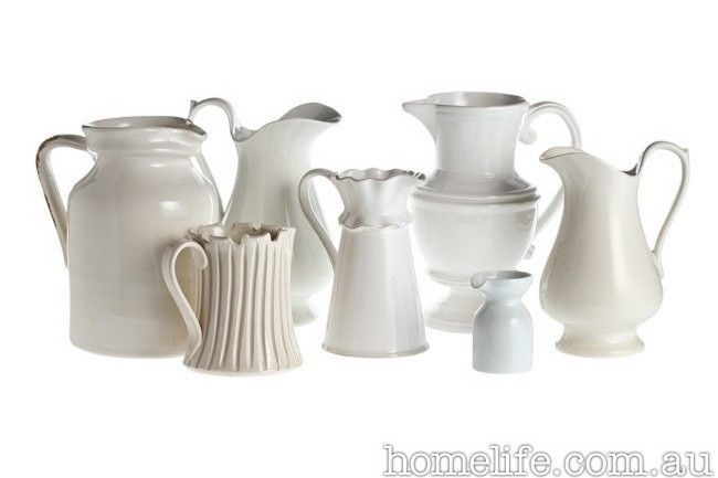 A Gorgeous Collection I Would Have All Of These Please Brought Together At Homelife White Pitcher Cute Home Decor Homelife