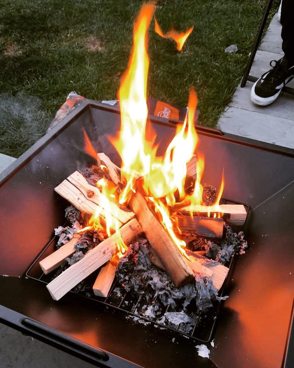 Had Our First Bbq Tonight Kitchen And Garden All Back To Normal Now Love Our Fire Pit From Aldi Had Our First Bbq Tonight Kitchen Fire Pit Bbq Garden Party