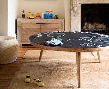 –Three leg blackboard table by Mark Tuckey.