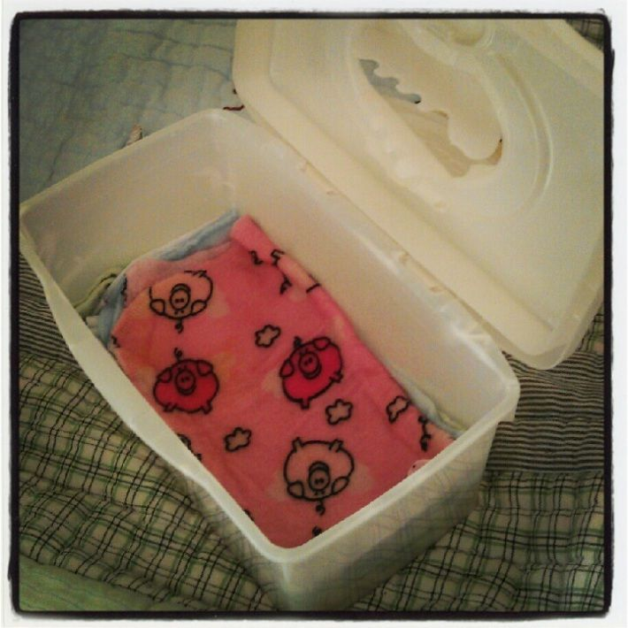 Cloth baby wipes: old face washers, water, 2tsp baby oil, 2 tsp baby shampoo! Smells great and works really well.