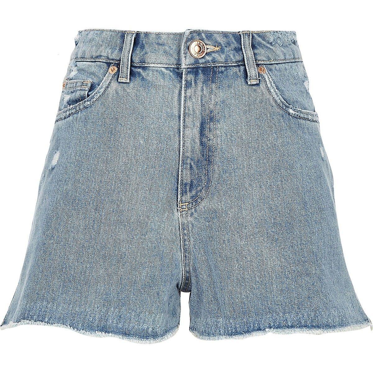 f35a089ea85 Mid blue Annie high rise denim hot pants | RI Denim Shorts in 2019 ...