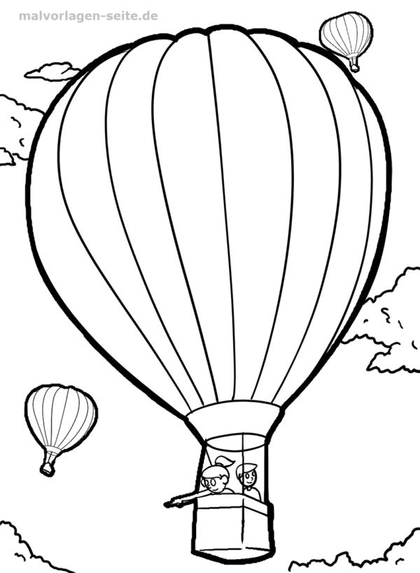 Malvorlage Heißluftballon | Malvorlagen - Ausmalbilder | Pinterest
