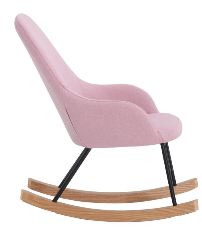 chaise bascule scandinave rose
