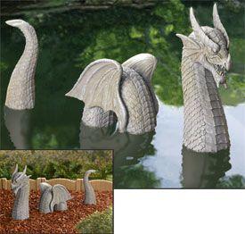 3 Piece Winged Dragon Garden Sculpture   To Make In Ceramic!