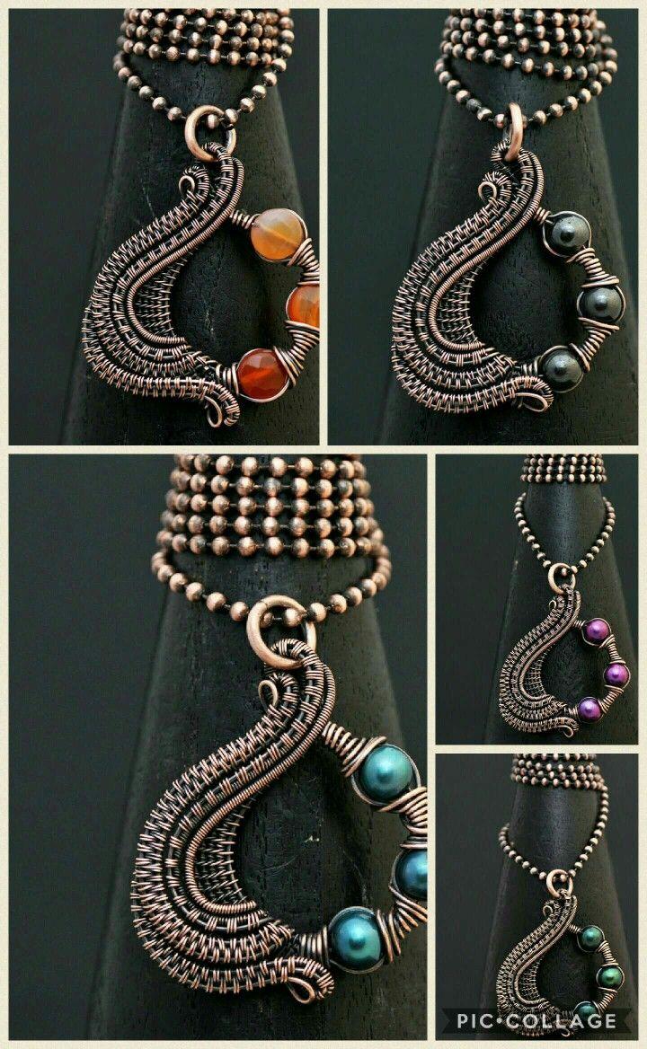 www.nicolehannajewelry.com Wire wrap jewelry, copper pendants, wire ...
