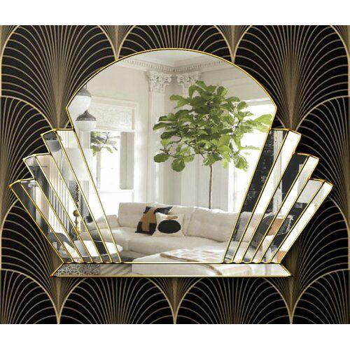 Lisbeth Overmantle Mirror Canora Grey Finish Gold In 2020 Art Deco Living Room Art Deco Room Art Deco Bedroom