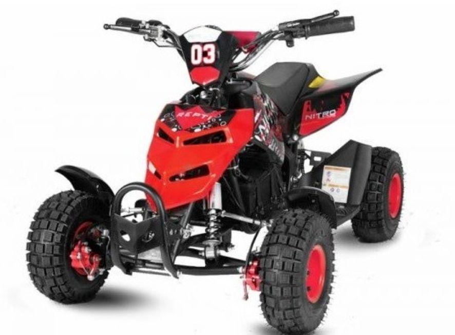 Quad Electrique 800w Eco Repti Rouge En 2020 Quad Quad Pour Enfant Regulateur De Vitesse
