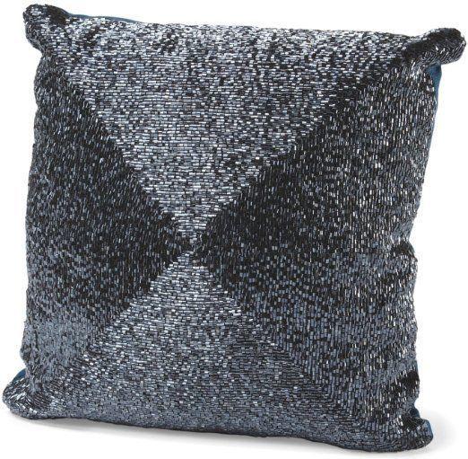 Cynthia Rowley Beaded Decorative Toss Pillow Bugle Beads Accent Inspiration Cynthia Rowley Decorative Pillows