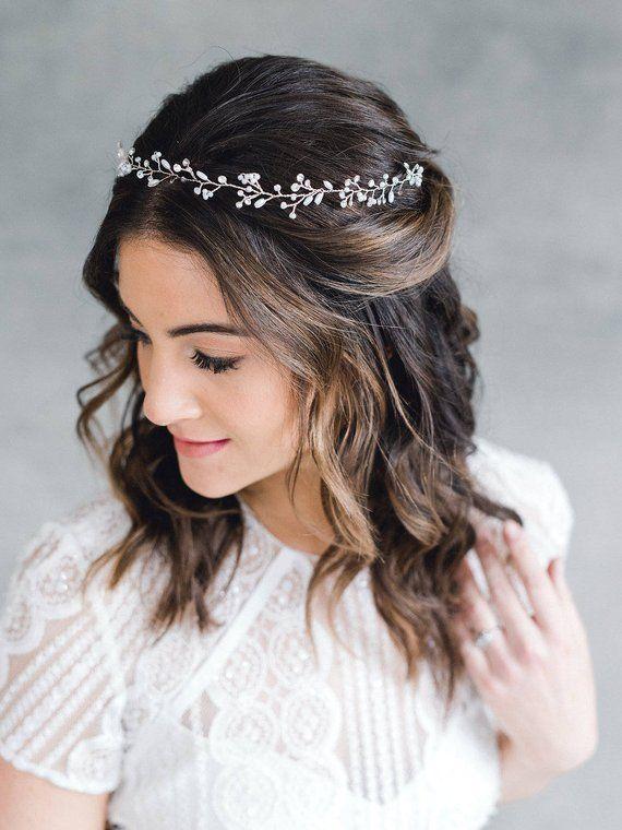 Bridal Headpiece Wedding Headpiece Wedding Hair Vine Bridal Etsy Bridal Hair Pieces Wedding Hair Head Piece Hair Vine
