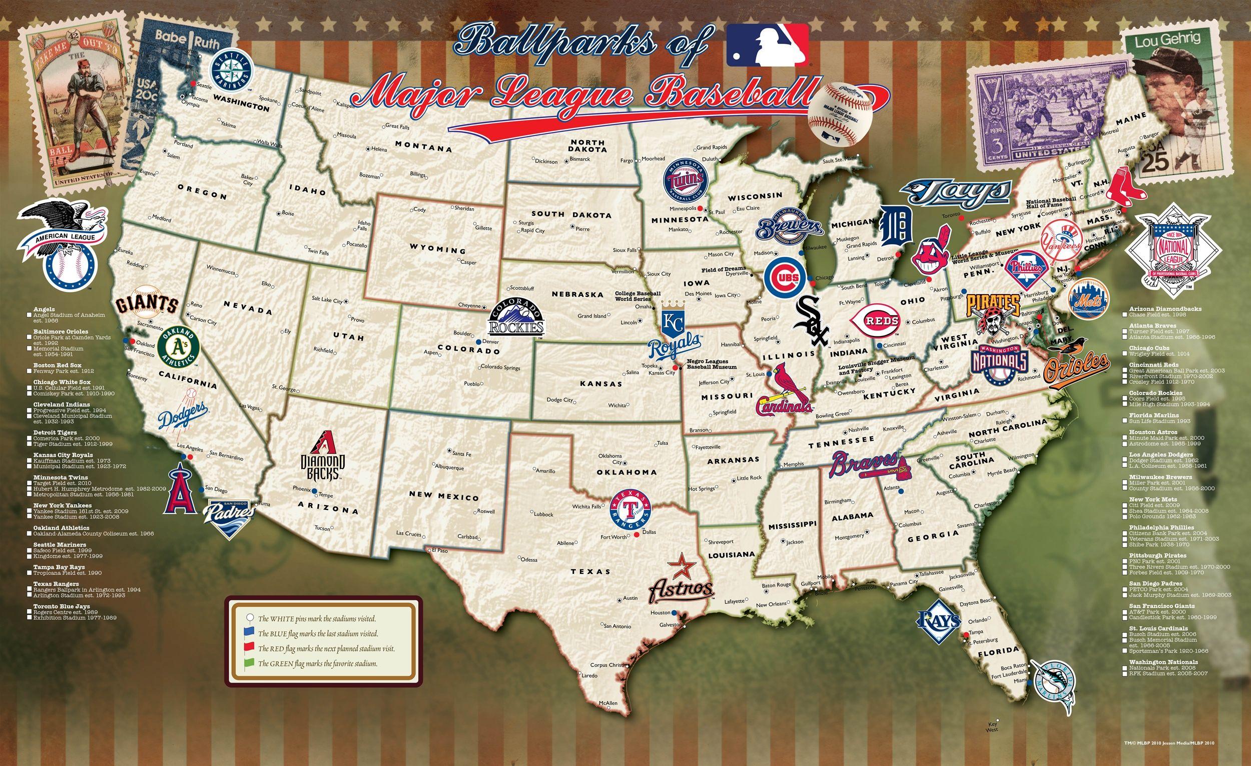 Baseball Map My Blog - Us baseball map